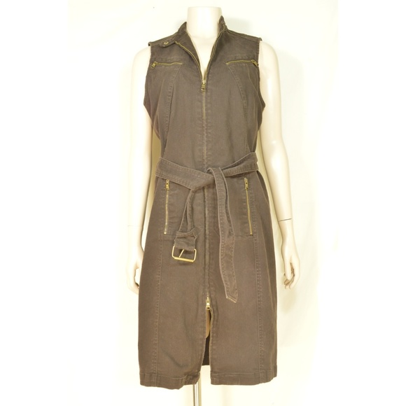 Ralph Lauren Dresses & Skirts - Ralph Lauren dress denim 10 olive brown drab stret